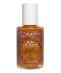 olio scintillante couleur caramel