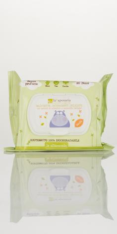 Salviette detergenti delicate biodegradabili - laSaponaria