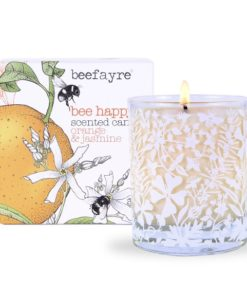 Candela Large BEE HAPPY - Arancio e gelsomino