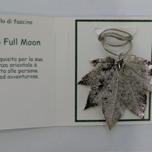 ciondolo acero full moon argento