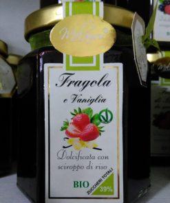confettura bio di fragola e vaniglia