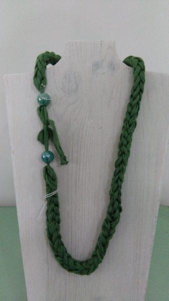 collana cotone biologico verde