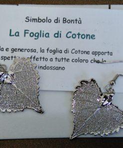 orecchini foglia di cotone